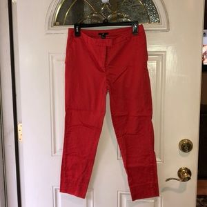 H&M red ankle pants